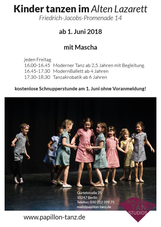 WiR – Wohnen in der Rummelsburger Bucht Nachbarschaftsverein – Kinder tanzen im Alten Lazarett