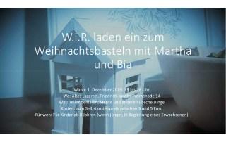 WiR – Wohnen in der Rummelsburger Bucht Nachbarschaftsverein – Weihnachtsbasteln_01