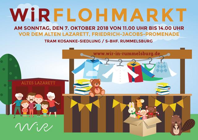 WiR – Wohnen in der Rummelsburger Bucht Nachbarschaftsverein – WiR Flohmarkt am 07.10.2018