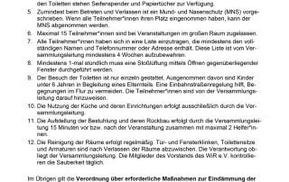 WiR – Wohnen in der Rummelsburger Bucht Nachbarschaftsverein – Hygienekonzept Altes Lazarett
