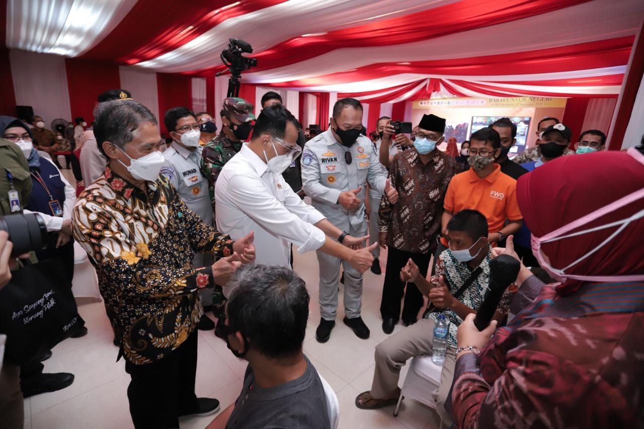 Vaksinasi Digelar di GSP UGM Dalam Rangka Hari Perhubungan Nasional