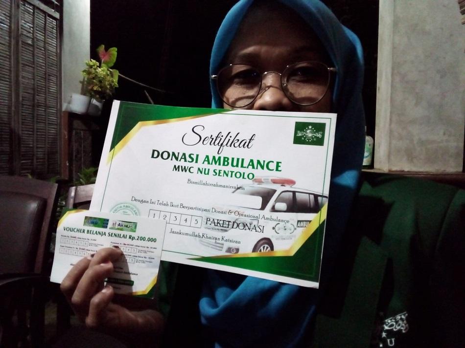 MWC Nahdlatul Ulama Sentolo Galang Dana Pengadaan Satu Unit Ambulance Gratis