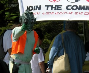 """""""Koona t'chuta, Solo?""""   Photo: Brad Moon/GeekDad.com"""