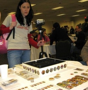 """Lorien checks out """"Small World"""" at the Gathering of Friends. Photo: Tery Noseworthy"""