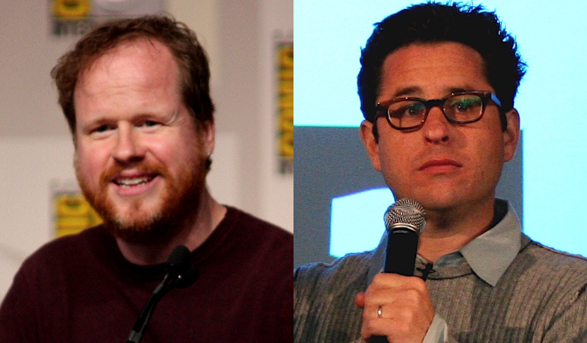 Joss Whedon photo by Gage Skidmore; J.J. Abrams photo by Steve McFarland (both used under CC license)