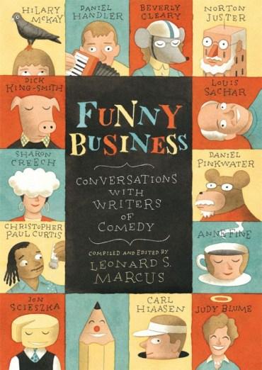 Interviews with kids' humor writers like Norton Juster, Louis Sacher, and Daniel Handler (aka Lemony Snicket)