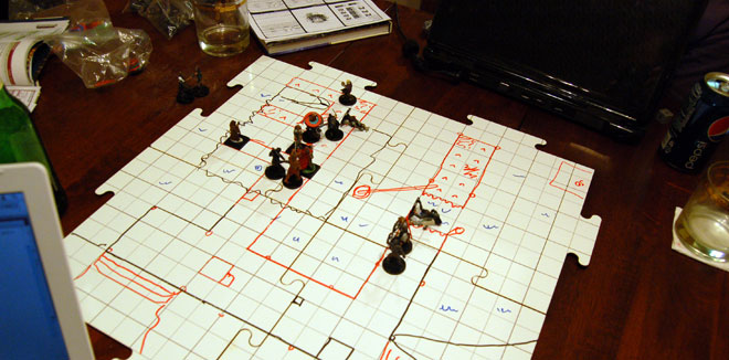 Battle Graph Boards in use. Photo: Michael Harrison
