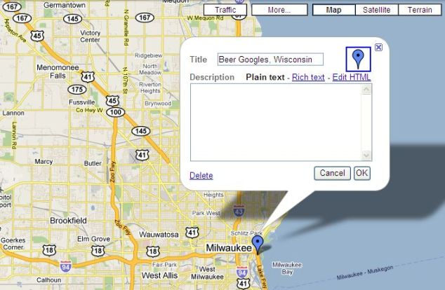 Image: personal Google Map by Russ Neumeier