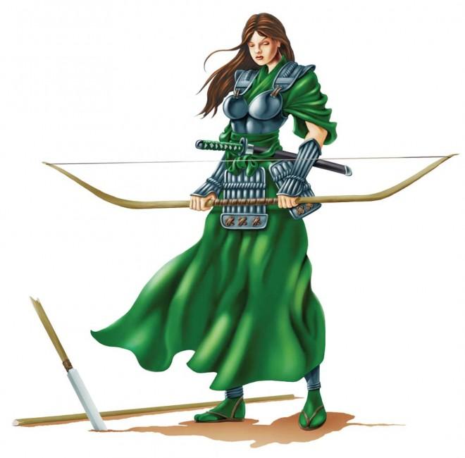 Akiyo, the hero from Bushi Tales #1. (Image courtesey of Dave Beaty)