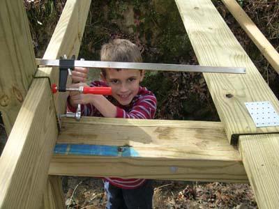 Eight year old turning lags at bridge
