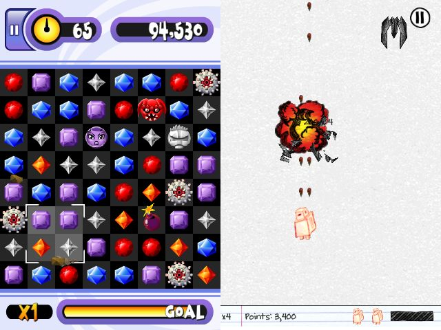 Babo Crash screenshot © Playbrains; Sketch Nation Shooter screenshot © Engineous Games Inc.