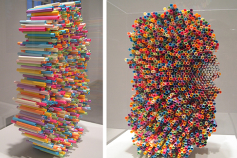 """Directed Perspective"" (rolled Post-it Notes) by artist Rebecca Murtaugh"