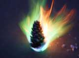 Make a fireworks pine cone with chemistry. Image: Anne Helmenstine