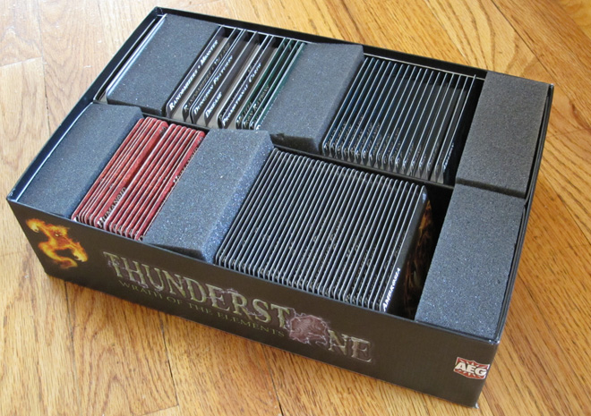 Thunderstone cards in box