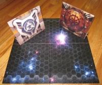 Battleship Galaxies game board and screens