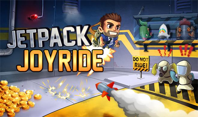 Jetpack Joyride Title screen