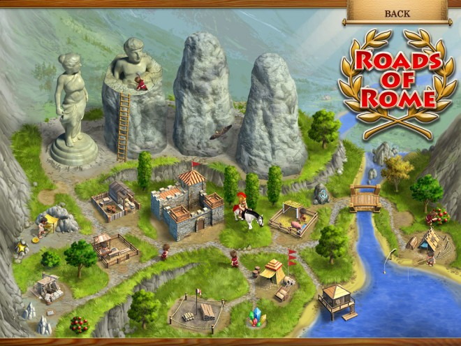 Roads of Rome valley screen