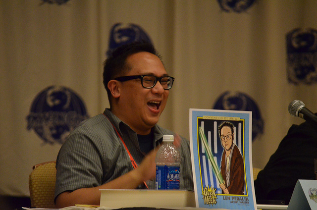Len Peralta at Dragon Con Geek A Week Panel