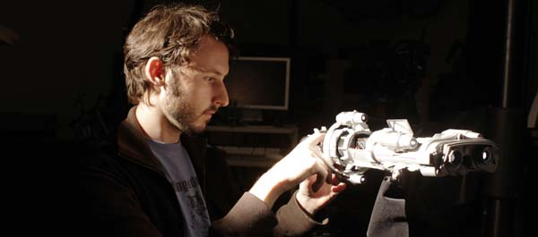 Derek Van Gorder repairs the ship [photo courtesy of the filmmakers]