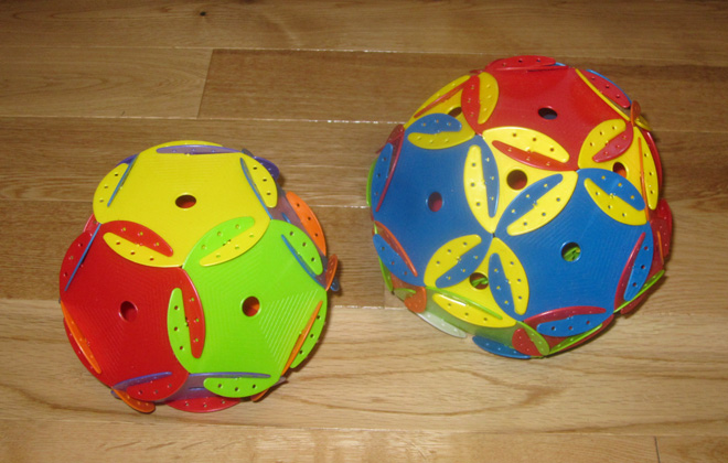 """Space Chips: Dodecahedron and """"World Cup Ball"""""""