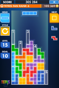 Tetris for iPhone screenshot