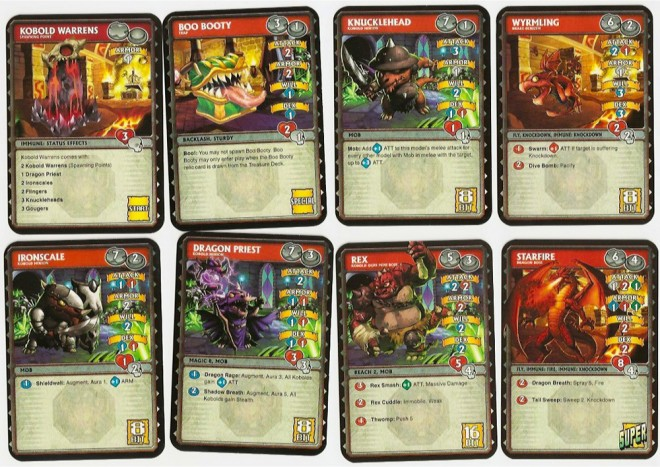 Super Dungeon Explore monster cards