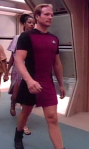 Star Trek man in Skant