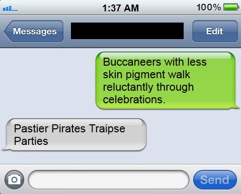 Pastier Pirates Traipse Parties