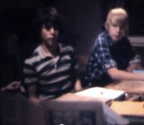 The author (left), circa 1981.