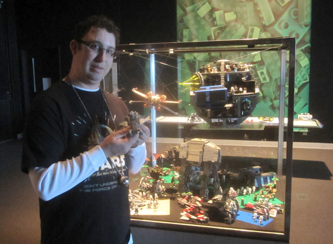 Dennis Newell with Star Wars Lego sets.