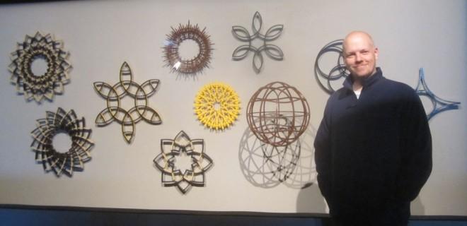 Jeff Sanders and his Brick Bending pieces.