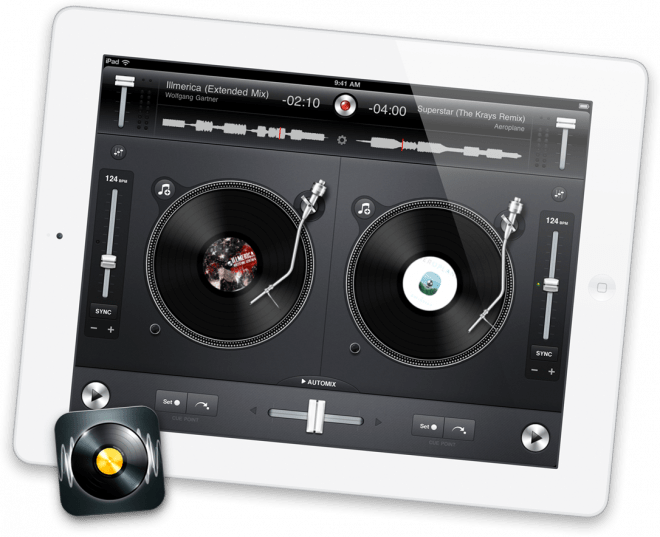 Djay for iPad, as featured on apple.com