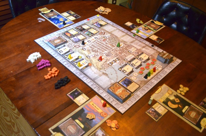 Lords of Waterdeep game in progress