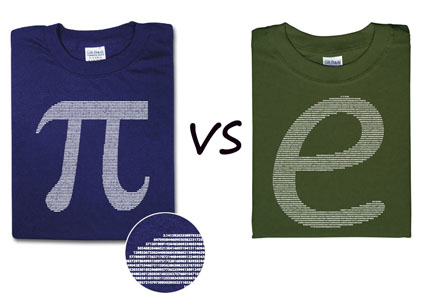 pi vs e