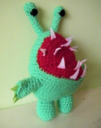 Crocheted version of a Chompy from Skylanders