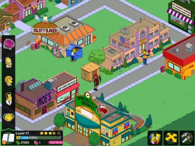 Screen Capture from The Simpsons: Tapped Out