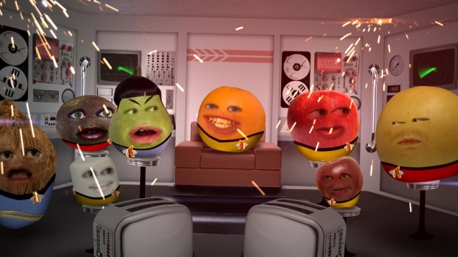 Annoying Orange boldly goes where no fruit has gone before! TV!