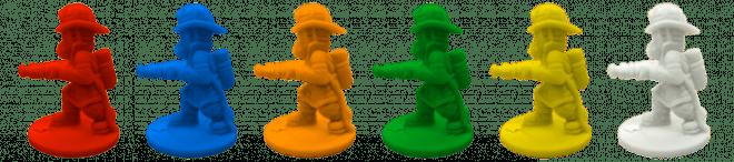 Firefighter figurines.