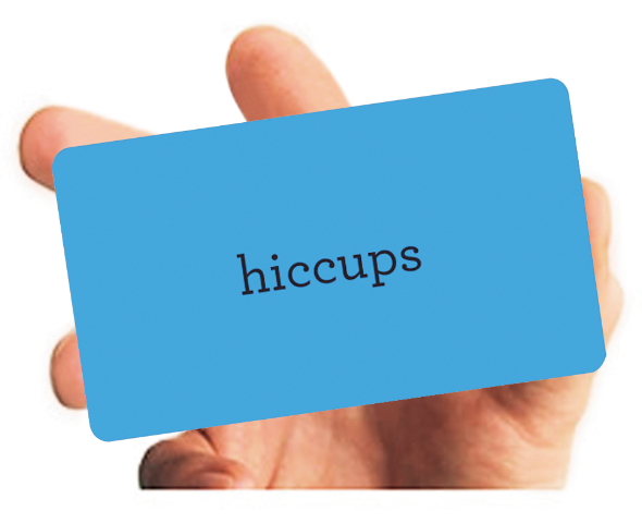 A sample blue card, which helps create the plot for your story. (Image: Brian Mooney)