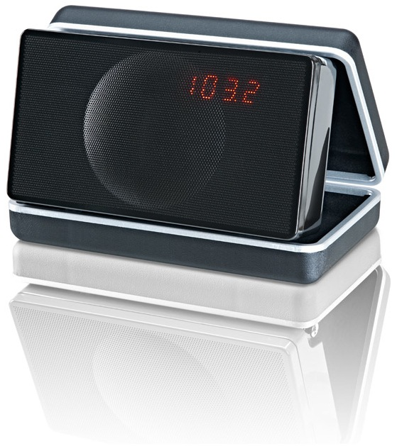 Geneva Sound System Model XS / Black Bluetooth, FM, Alarm Clock, Speakers, Amplifier. All-in-one.