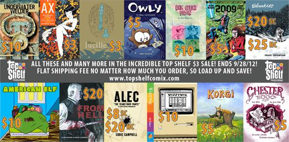 Top Shelf $3 Comics
