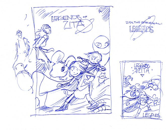 Legends of Zita cover sketch
