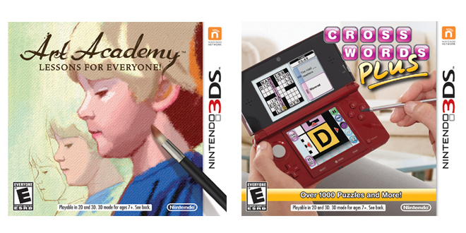 Art Academy and Crosswords Plus cover images