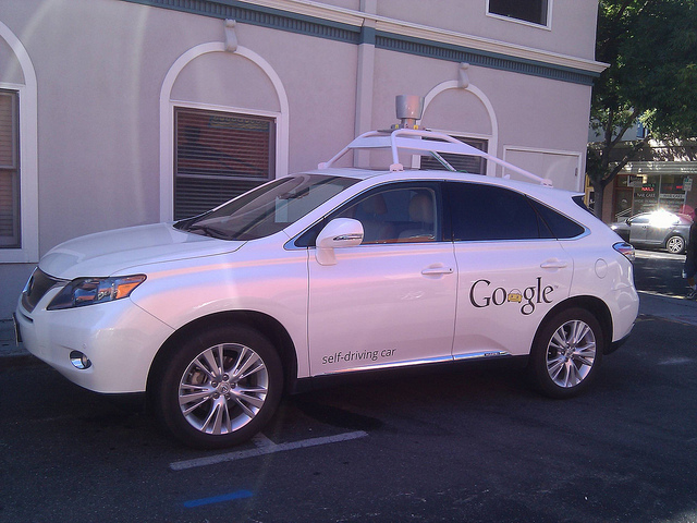 Google Self-Driving Car (photo by Flickr user MarkDoliner, CC Licensed)