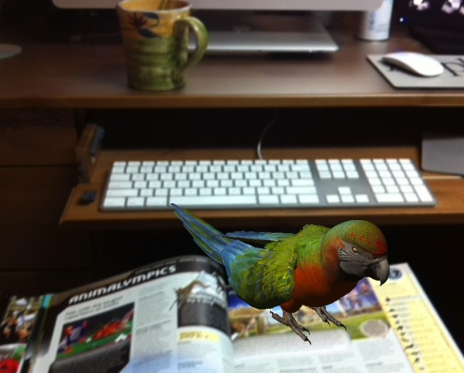 Guinness World Records 2013 Augmented Reality app: there's a parrot on my book...
