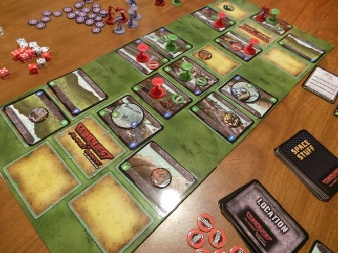Conquest of Planet Earth game in progress