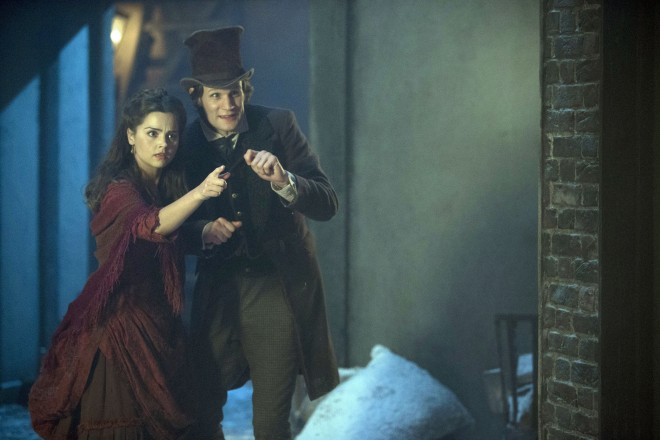 Doctor Who: The Snowmen, Clara (Jenna-Louise Coleman) and the Doctor (Matt Smith) — CREDIT: Adrian Rogers, ©BBC/BBC WORLDWIDE