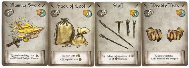 Gauntlet of Fools weapons
