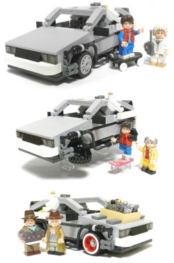 Marty, Doc and the Delorean x 3