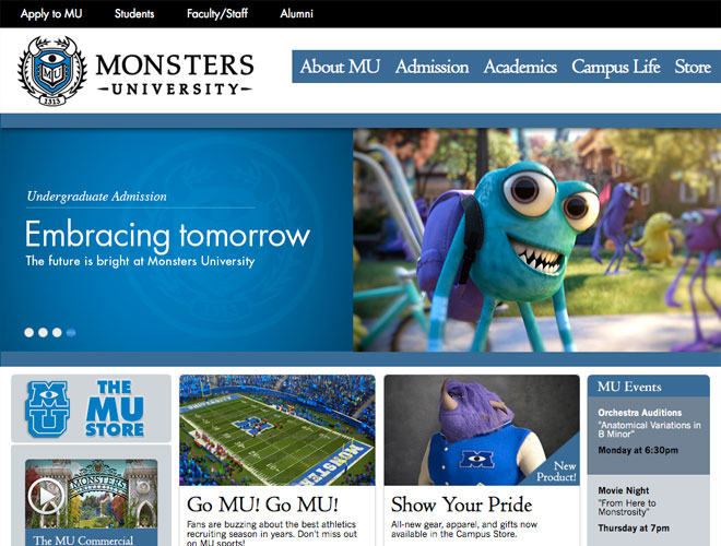 Monsters University screenshot